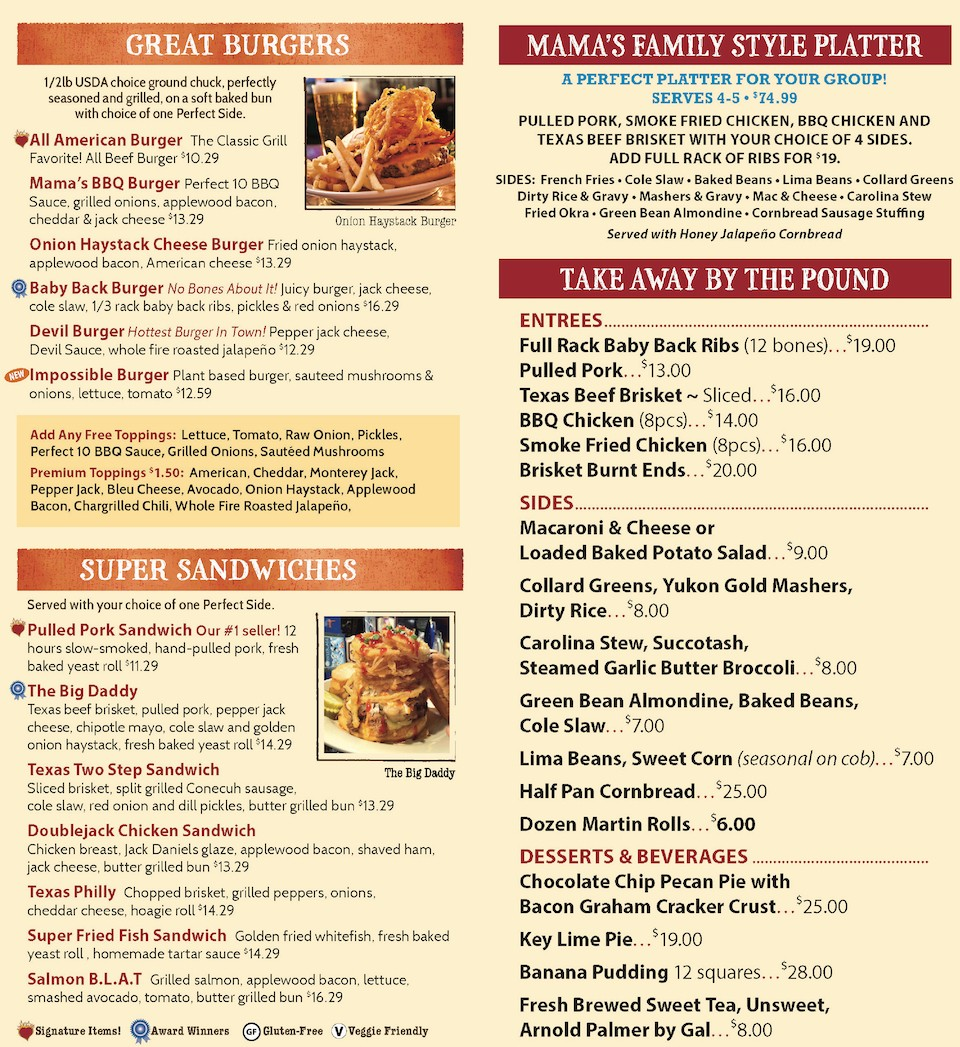 One Hot Mamas Menu by Express Restaurant Delivery Burgers, Sandwiches, Entrees, Sides, Desserts