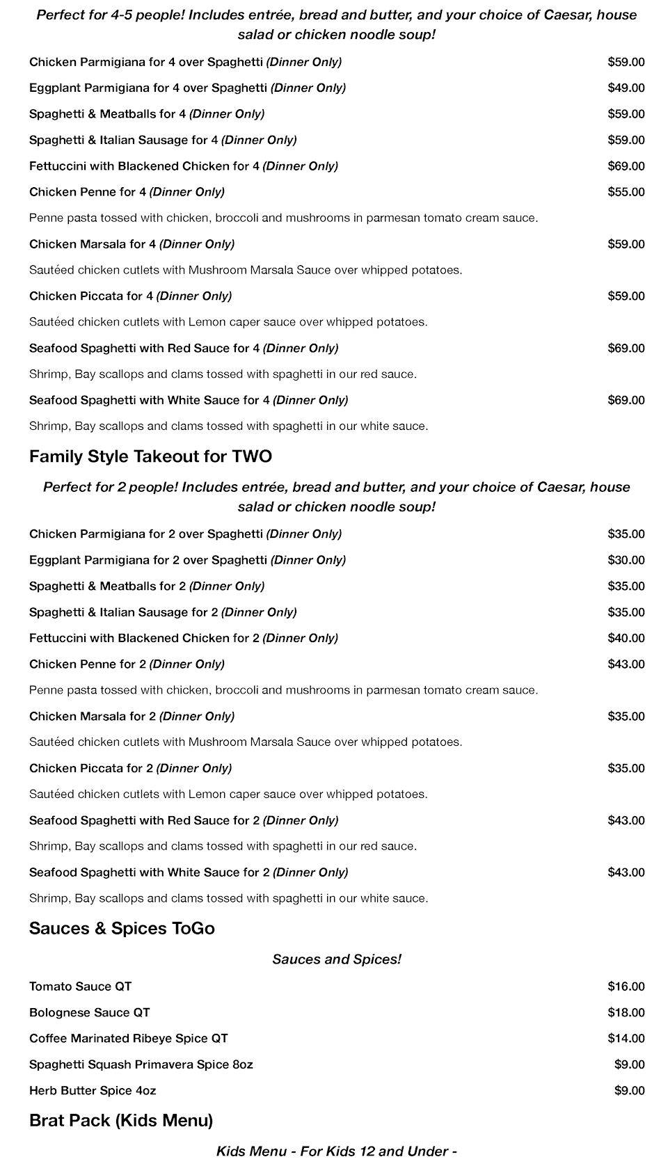 Restaurant Menu Food Delivery by Express Restaurant Delivery Hilton Head Island