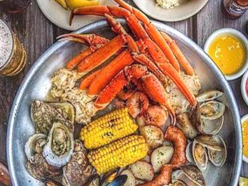Skull Creek Boathouse Seafood ThrowdownFood Delivered by #HHIFOOD #8437857155 #fooddelivery by Express Restaurant Delivery Hilton Head